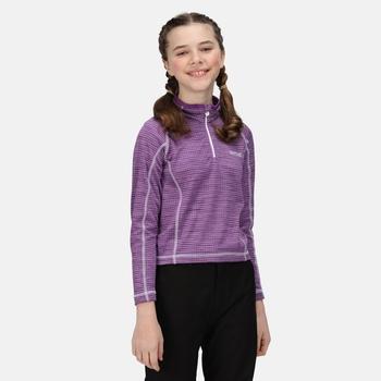 Berley langärmeliges Shirt mit halblangem Reißverschluss für Kinder Lila
