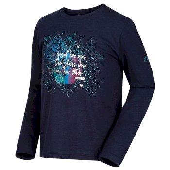 Wendell - Mädchen Sweatshirt mit Fuchs-Druck Navy