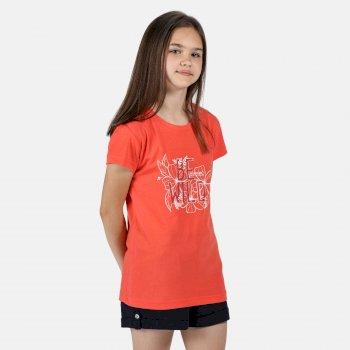 Regatta Kids' Bosley III Printed T-Shirt - Fiery Coral Wild Print