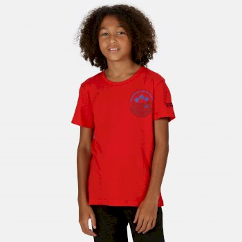 Bosley III bedrucktes T-Shirt für Kinder Rot