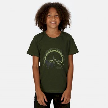 Regatta Kids' Bosley III Printed T-Shirt - Racing Green Wolf Print