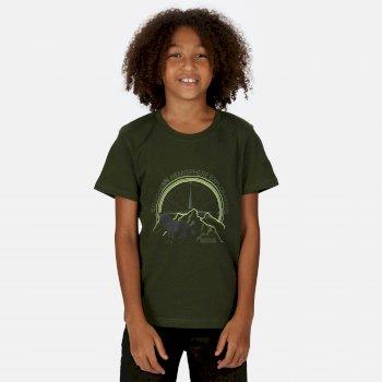 Bosley III bedrucktes T-Shirt für Kinder Grün