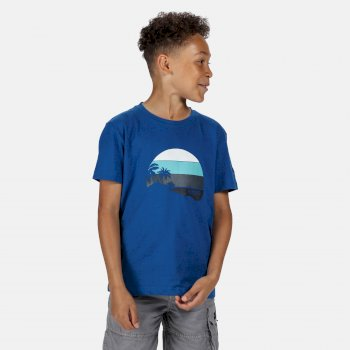 Regatta Kids' Bosley III Printed T-Shirt - Nautical Blue Print