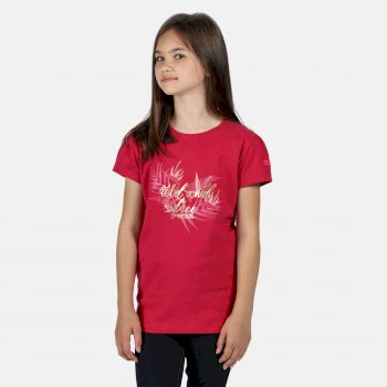 Regatta Kids' Bosley III Printed T-Shirt - Duchess Pink Wild Print