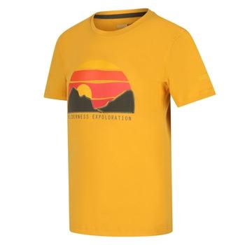 Bosley III bedrucktes T-Shirt für Kinder Gelb