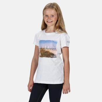 Bosley III bedrucktes T-Shirt für Kinder Weiß