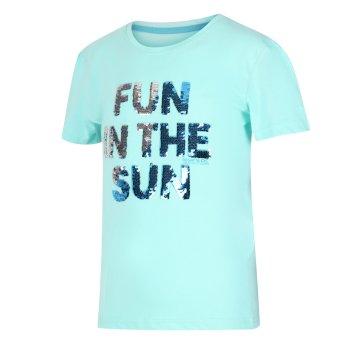 Bosley III bedrucktes T-Shirt für Kinder Blau