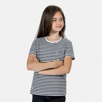 Regatta Kids' Ayan T-Shirt - Navy Stripe