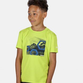 Regatta Kid's Alvardo V Graphic T-Shirt - Electric Lime