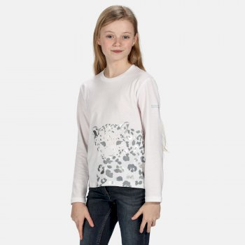 Regatta Kids' Wenbie Coolweave Printed Long Sleeve T-Shirt - White