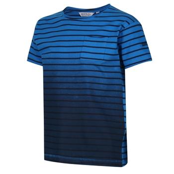 Manthos Gestreiftes T-Shirt für Kinder Blau