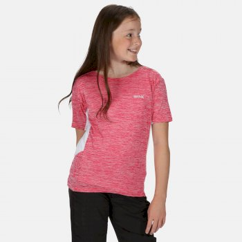 Takson III Meliertes, Active T-Shirt für Kinder Rosa
