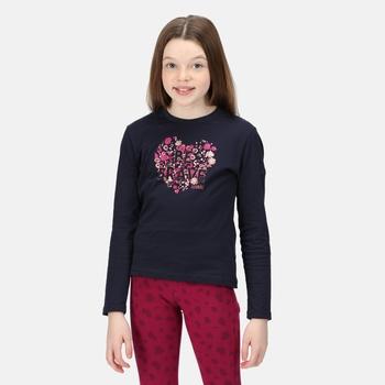 Wenbie II bedrucktes Langarmshirt für Kinder Blau