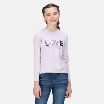 Wenbie II bedrucktes Langarmshirt für Kinder Lila