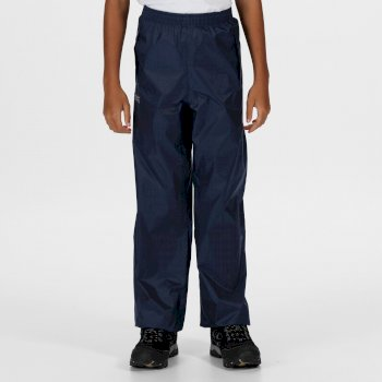 Regatta Kids Pack It Waterproof Packaway Overtrousers Midnight
