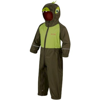 Regatta Kids' Charco Waterproof Puddle Suit - Ivy Green