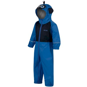 Regatta Kids' Charco Waterproof Puddle Suit - Blue Monkey