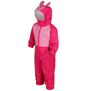 Regatta Kids' Charco Waterproof Puddle Suit Pink Mouse