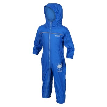 Regatta Kids Puddle IV Breathable Waterproof Puddle Suit Oxford Blue