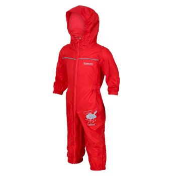 Regatta Kids Puddle IV Breathable Waterproof Puddle Suit - Pepper