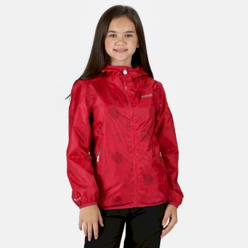 Regatta Kids' Printed Lever Packaway Lightweight Waterproof Walking Jacket - Duchess Petal