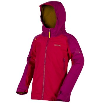Regatta Kids Allcrest II Breathable Waterproof Hooded Jacket - Duchess Vivid Viola