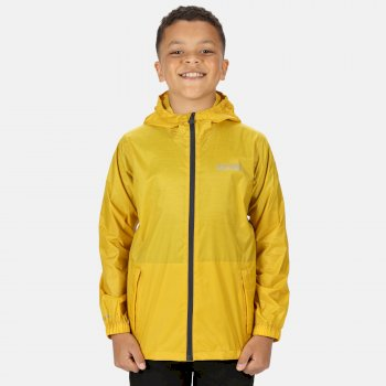 Regatta Kids' Pack It Lightweight Waterproof Hooded Packaway Walking Jacket - Grapefruit