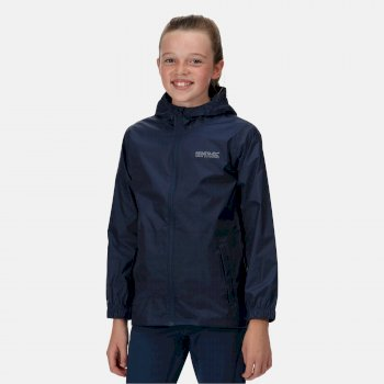 Regatta Kids' Pack It Lightweight Waterproof Hooded Packaway Walking Jacket - Midnight