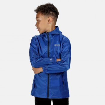 Regatta Kids' Pack It Lightweight Waterproof Hooded Packaway Walking Jacket - Nautical Blue