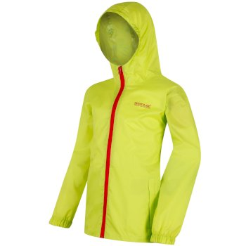 Regatta Kids Pack it Jacket III Waterproof Packaway Lime Zest