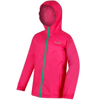 Regatta Kids' Pack It Jacket III Waterproof Packaway - Hot Pink