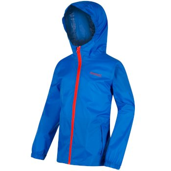 Regatta Kids Pack it Jacket III Waterproof Packaway SkyDiver Blue