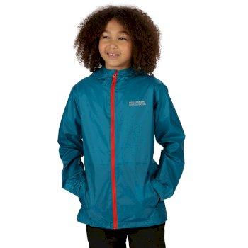 Pack-It III - Kinder Jacke - wasserdicht - leicht verstaubar Blau