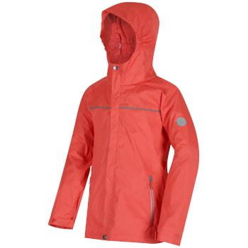 Regatta Kids Disguize II Waterproof Jacket - Neon Peach
