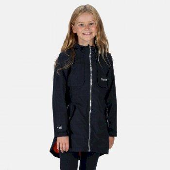 Tarana wasserdichte langgeschnittene Jacke für Kinder Blau