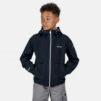 Regatta Kids' Haskel Waterproof Hooded Jacket - Navy