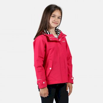 Regatta Kids' Bibiana Waterproof Hooded Jacket - Duchess Pink