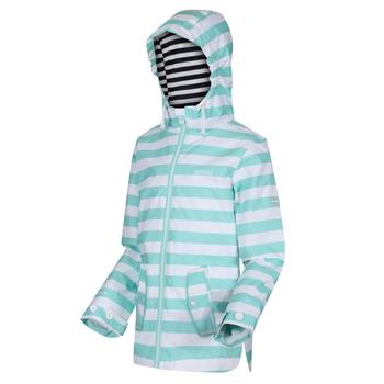 Regatta Kids' Bibiana Waterproof Hooded Jacket - Aruba Blue Stripe
