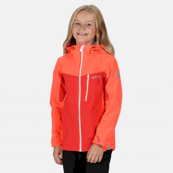 Regatta Kids' Highton Waterproof Jacket - Fiery Coral Coral Blush