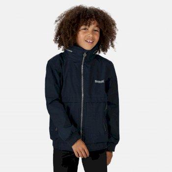 Bryn wasserdichte Jacke mit verdeckter Kapuze für Kinder Blau