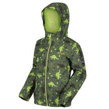 Ellison bedruckte wasserdichte Jacke für Kinder Grün
