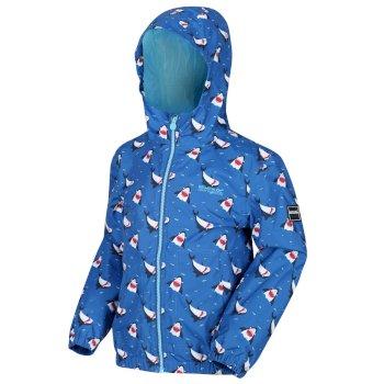 Ellison bedruckte wasserdichte Jacke für Kinder Blau