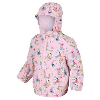 Ellison bedruckte wasserdichte Jacke für Kinder Rosa