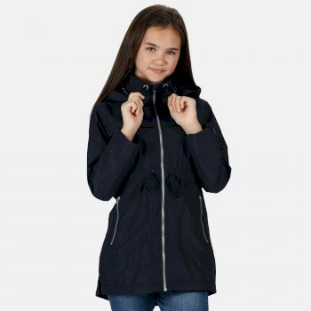 Regatta Kids' Talina Waterproof Hooded Fishtail Parka Jacket - Navy