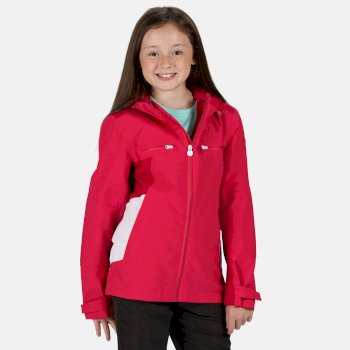 Regatta Kids' Highton Waterproof Hooded Walking Jacket - Duchess Dark Cerise