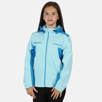 Highton wasserdichte Walkingjacke mit Kapuze für Kinder Blau