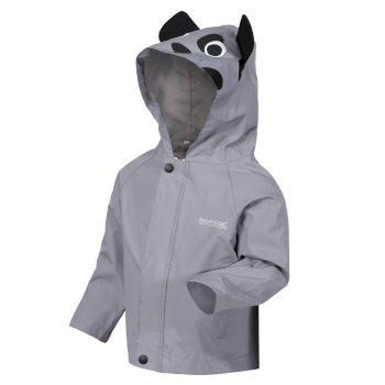 Animal bedruckte, leichte, wasserdichte Jacke für Kinder Grau