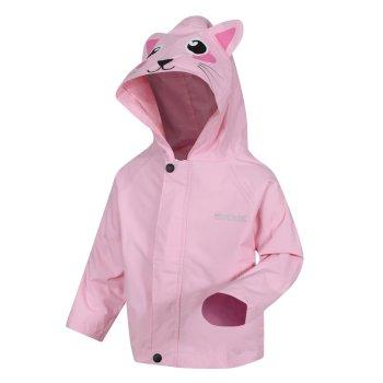 Animal bedruckte, leichte, wasserdichte Jacke für Kinder Rosa