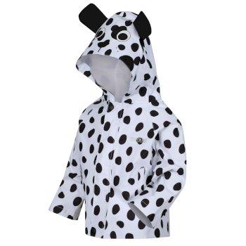 Animal bedruckte, leichte, wasserdichte Jacke für Kinder Weiß