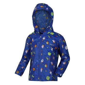 Peppa Wutz wasserdichte Pack-It-Jacke mit Kapuze Blau